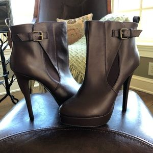 New Charles by Charles David Cognac Leather Bootie